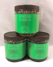 Bath and & Body Works Natural ALMOND & VANILLA OLIVE OIL BODY SCRUB 3 PACK