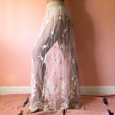 Gypsy Junkies Lace Crochet Maxi Skirt MSRP $265
