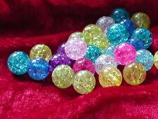 50 Acryl Crackle Perlen Mix 10 mm  Perlen Schmuck Basteln