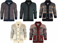 Mens  Brave Soul Star  Button Cardigan Jacquard Jumpers Knitted   Pullover