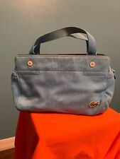Lacoste Baby Blue Small Canvas Purse With Zipper