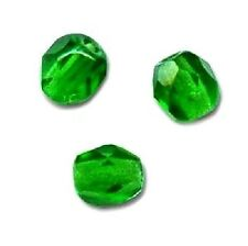 25 Perles Facettes cristal de boheme 6mm  EMERAUDE EMERALD