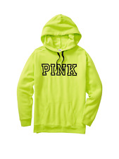 Victoria's Secret Pink Everyday Campus Lounge Pullover Hoodie Lime Medium NWT