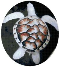 Cross Stitch Chart  Albino Turtle Needlework Aida Picture Design