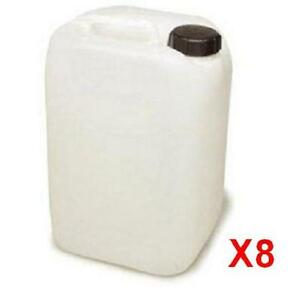 8 x 25L Litre New Plastic Water Storage Container Food Grade Caravan Jerry Can 2