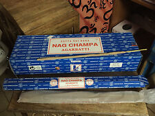 Caja incienso  Nag Champa largo, 6 tubos x 50 gr.  300 gr