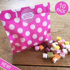 Baby Shower Sweet Bags & Stickers - 10 Pack - Pink - Party Games Prize Favours