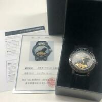 Godzilla 60th Anniversary Watch Black 1954 Limited Leather Band From Japan F/S