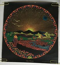 Vintage Blacklight Poster Moon Mountain Psychedelic Pin-up Bernstein 1960's 60's