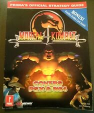 Mortal Kombat 4 Prima Official Strategy Guide N64 PS Arcade With Kombat Kodes