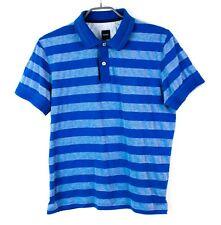 Hugo Boss Hombre Camiseta Regular Fit Cuello Polo Rayas Talla M EZ543