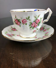 Aynsley GROTTO ROSE Cup and Saucer w/ Original Label