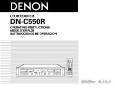 Denon DN-C550R CD Player Owners Manual