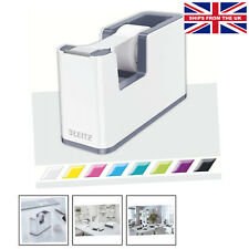 More details for leitz tape dispenser, heavy base with tape, wow range, pearl white/grey. dual