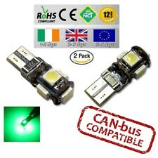 2x GREEN CanBus LED No Error 6000k HID T10 w5w 501 194 Parking Bulbs Side Lights
