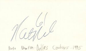 Nate Newton Dallas Cowboys NFL Football Autographed Signed Index Card