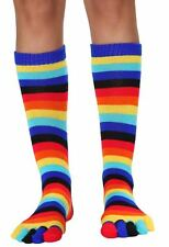 Toe Socks Women's Rainbow Toe Socks Rave Socks Halloween Socks Knee High Socks