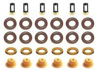 FUEL INJECTOR KIT O-RINGS SPACER FILTER DODGE CHRYSLER 3.8 3.9 V6 PINTLE CAPS