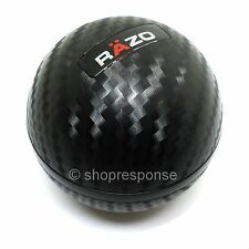 RAZO RA136 Carbon Fiber Look Shift Knob Round/Ball Type 240g Heavy Weighted JDM