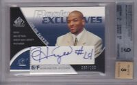 JARVIS HAYES RC 03-04 SP GAME USED ROOKIE EXCLUSIVES AUTO #030/100 BGS 9/8 AUTO
