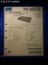 Sony Service Manual XM 405EQX Amplifier (#5480)