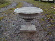 A large solid pair of urns   (heavy stone pots urns )