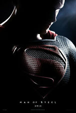 MAN OF STEEL (Superman) DOUBLE SIDED MOVIE FILM POSTER 69x102cm Henry Cavill