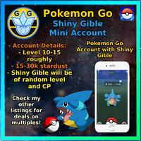 Pokemon Go Shiny Gible - PTC Mini Acc!