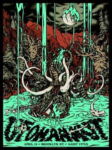 UFOMAMMUT - 18x24 artist signed screenprinted show poster - Brooklyn, NY 2019
