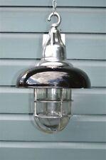 Superb fishermans wharf hanging light ceiling bulkhead lamp polished metal FWP B