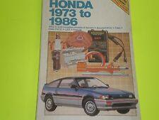 1973-1986 HONDA ACCORD ACCORD CVCC CIVIC CIVIC CVCC CRX PRELUDE CHILTON REPAIR