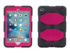 Griffin Rugged Protection Survivor Case for iPad Mini 4 - Smoke Black/Pink