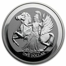 2017 British Virgin Islands 1 oz 999 Fine Silver Pegasus Reverse Proof Coin