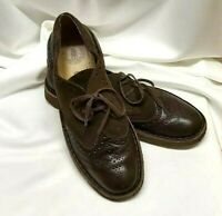 Rare Mens Clarks Originals Brown Suede/leather Lace Up Casual Shoes Size UK 9 F
