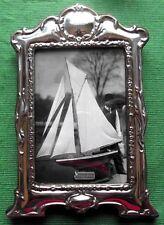 LARGE Art Nouveau London Hallmark Sterling Silver Photo Frame : Xmas Valentines