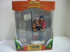 Gsi Outdoors Outside Inside Mountaineers Mountain Climber Cake Topper Nib, Nos