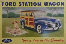 * FORD STATION WAGON - Advertising Tin in relief - For a Day in the Country