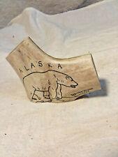 Polar Bear Drawn On Bone/Antler-Walter Wilson,Noatak,Alaska-Nice-Signed