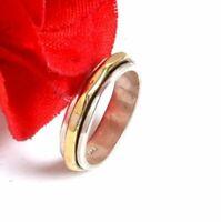 Solid 925 Sterling Silver Spinner Ring Meditation Statement Ring Size sr2445