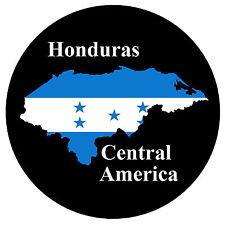HONDURAS, CENTRAL AMERICA MAP / FLAG - ROUND SOUVENIR FRIDGE MAGNET / GIFTS