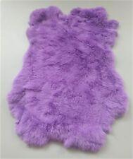2pcs Light Purple Real Rabbit Fur Pelt 100% Genuine Rabbit Fur Skin For Pets Bag