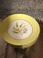 Century Service Dinnerware Autumn Gold Pattern 4 Coffee Saucers plate 5.25""