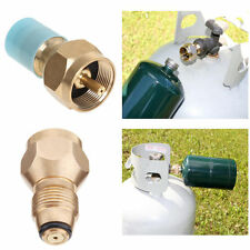 Propane Refill Adapter Tank Gas Cylinder Coupler LP Heater Camping Fishing Brass