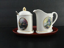 Thomas Kinkade Sugar & Creamer Set