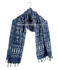 Hand Block Print Scarf Neck Wrap Cover Up Scarf Cotton Voile Exotic Rajasthan