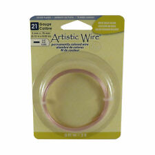 Artistic Wire FLAT Craft Copper Dead Soft Wire 21 gauge 5 x 0.75 mm 3 ft