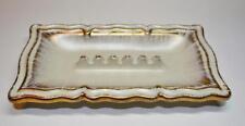 "Vintage ROYAL HAEGER USA Porcelain White 22k Gold Design #1019 8 3/4"" Ashtray"