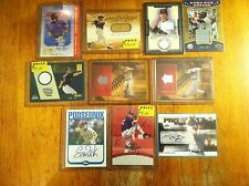 Brewers + others Random lot of baseball cards game worn auto Dan Phillips L@K