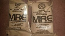2017 RARE Vegetarian Genuine  MRE's lot of 6 meals sample half case