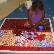 "ABORIGINAL ART PAINTING by YINARUPA GIBSON NANGALA (Nungala) ""NGAMINYA"" WIP"